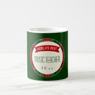 Music Teacher Holiday Plaid Christmas Gift Mugs