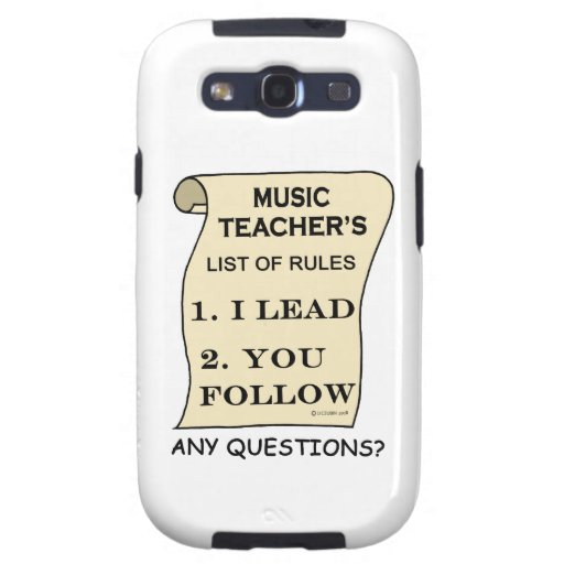 Music Teacher List Of Rules 1.png Samsung Galaxy S3 Covers