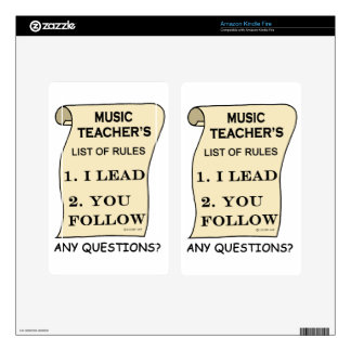 Music Teacher List Of Rules 1.png Skins For Kindle Fire