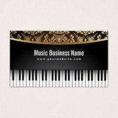 Music Teacher Luxury Realistic Piano Business Card at Zazzle