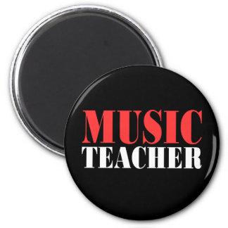 Music Teacher 2 Inch Round Magnet