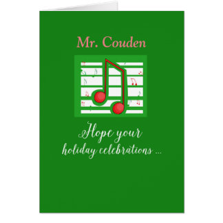 Music Teacher, Mr. Couden, Customizable Name Card