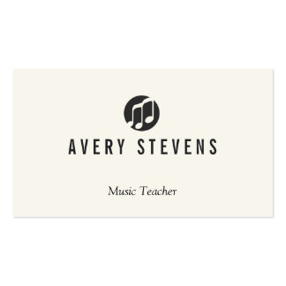 Music Teacher, Music Notes Logo, Musician Double-Sided Standard Business Cards (Pack Of 100)