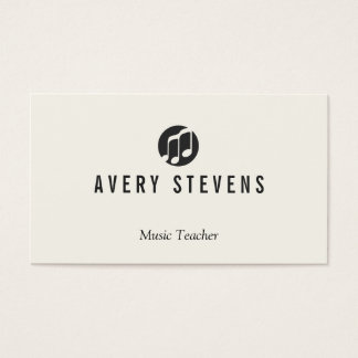 Music Teacher, Music Notes Logo, Musician Business Card