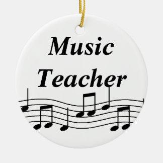 Music Teacher Musical Notes Ceramic Ornament