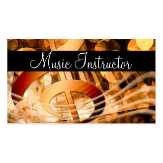 Music Teacher Musician Card Pack Of Standard Business Cards