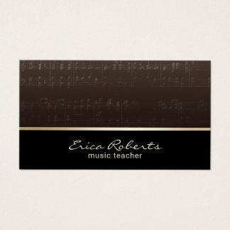 Music Teacher Musician Elegant Musical Business Card
