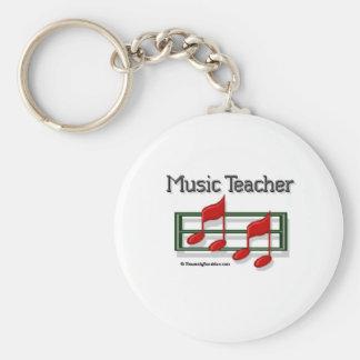Music Teacher Notes Keychain