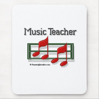 Music Teacher Notes Mouse Pad