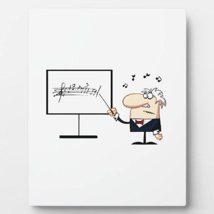 music teacher older man graphic display plaque