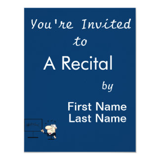music teacher older man graphic 4.25x5.5 paper invitation card