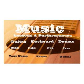 Music teacher / performer business card