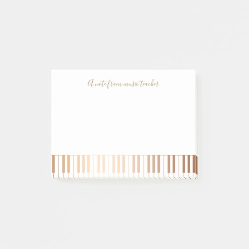 Music Teacher Pianist Gold Grand Piano Keys Post_it Notes