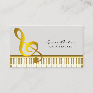 Musician business cards zazzle music teacher piano keyboard musician pianist business card reheart Images