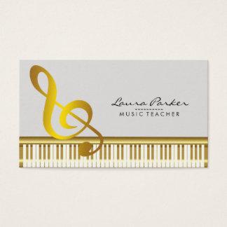 Music Teacher Piano Keyboard Musician Pianist Business Card
