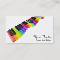Music Teacher Piano Lessons Business Card