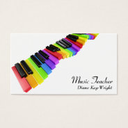 Music Teacher Piano Lessons Business Card at Zazzle