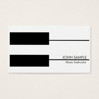 Music Teacher Piano Lessons Instructor Business Card