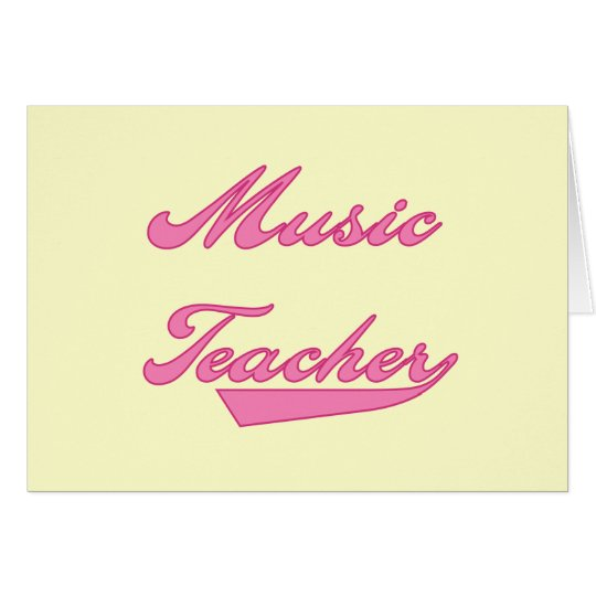 Music Teacher Pink Tshirts and Gifts Card