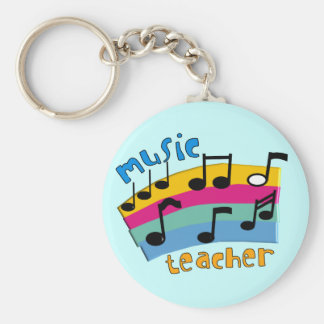 Music Teacher Rainbow Notes Gifts Keychain