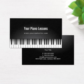 Music Teacher Realistic Piano Keys Business Card