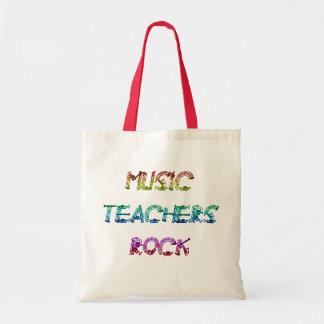 MUSIC TEACHER ROCK 2 BUDGET TOTE BAG