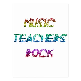 MUSIC TEACHER ROCK 2 POSTCARD