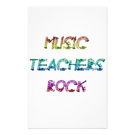 MUSIC TEACHER ROCK 2 STATIONERY DESIGN