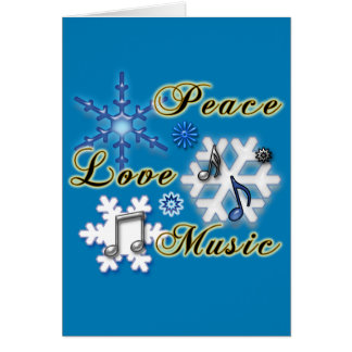 Music Teacher Snowflakes Non-Denominational Card