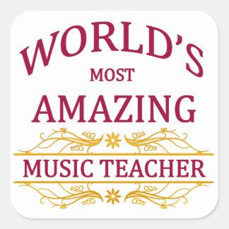 Music Teacher Square Sticker