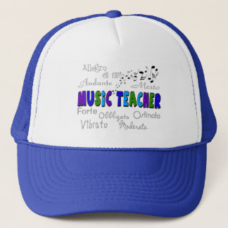 Music Teacher Terminology Design Trucker Hat