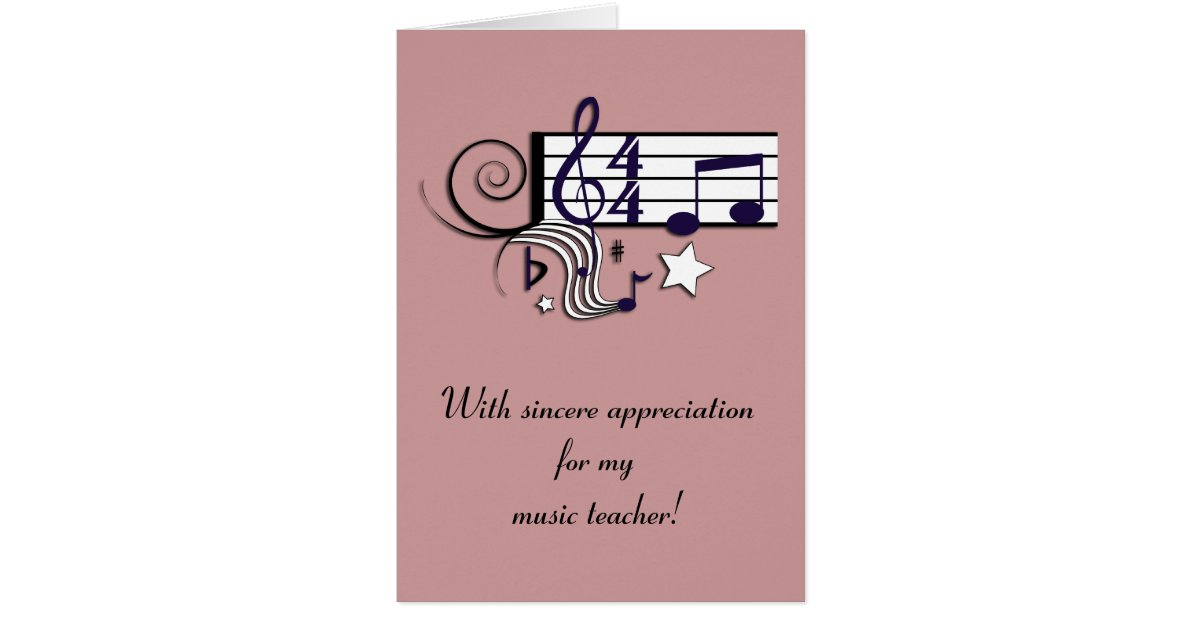 music teacher thank you card