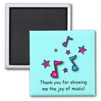 Music Teacher Thank You 2 Inch Square Magnet