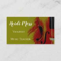 Music Teacher Violinist Business Card