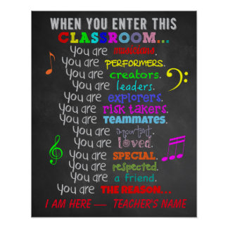 Classroom Music Posters | Zazzle
