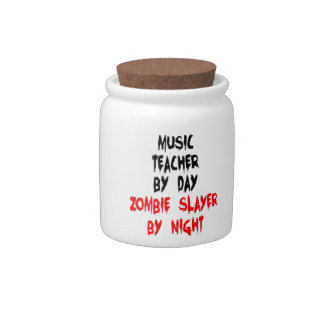 Music Teacher Zombie Slayer Candy Dishes