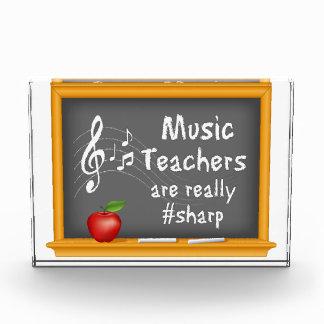 Music Teachers are Really # Sharp Acrylic Award