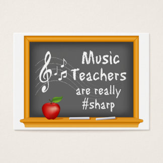 Music Teachers are Really # Sharp Business Card