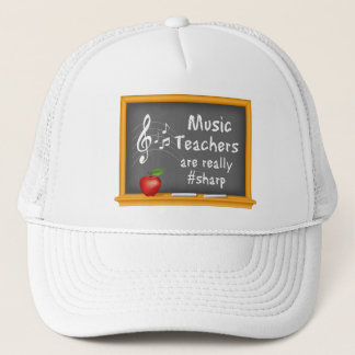 Music Teachers are Really # Sharp Trucker Hat