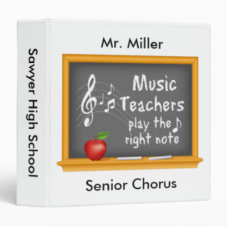 Music Teachers Play the Right Note Binder