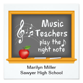 Music Teachers Play the Right Note Card