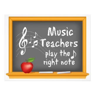 Music Teachers Play the Right Note Flyer