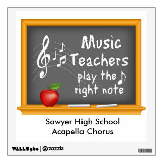 Music Teachers Play the Right Note Wall Decal
