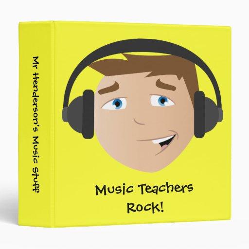 Music Teachers Rock! 3 Ring Binders
