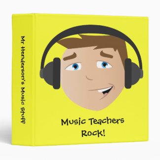Music Teachers Rock! Vinyl Binder