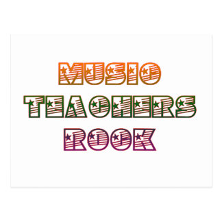 MUSIC TEACHERS ROCK POSTCARD