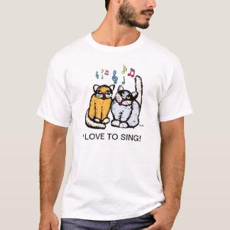 MUSIC TEACHERS T SHIRT i love to sing cats by ara