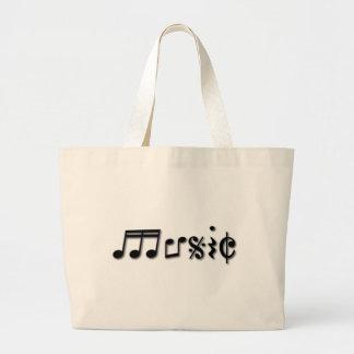 Music Text Design Bag