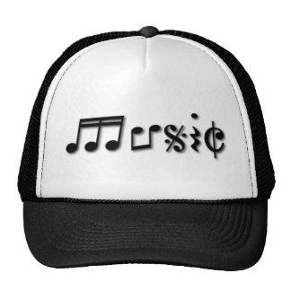 Music Text Design Trucker Hat