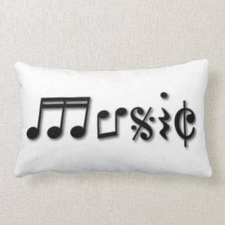 Music Text Design Lumbar Pillow